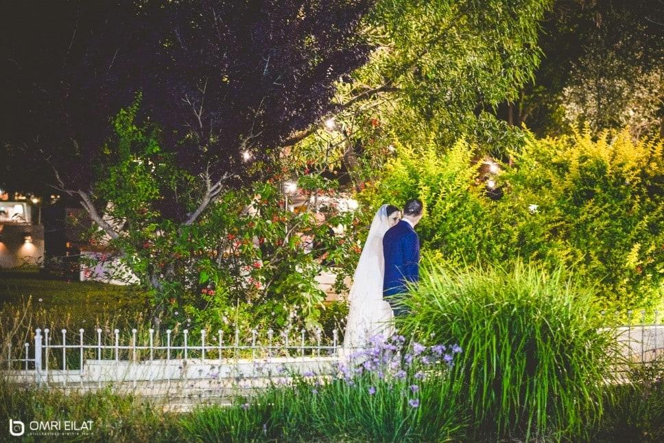 זוג ביום חתונתם